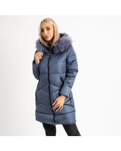 1905-3 голубая куртка женская на синтепоне (4 ед. размеры: M.L.XL.2XL) Куртка