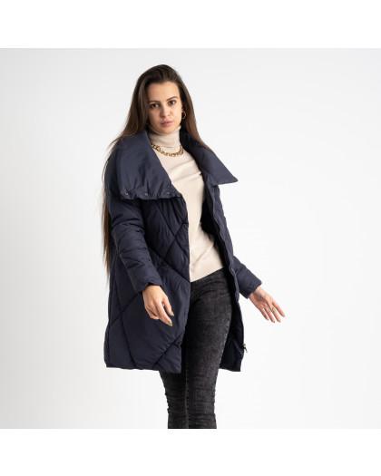 2036-1 синяя куртка женская на синтепоне (4 ед. размеры: M.L.XL.2XL) Куртка