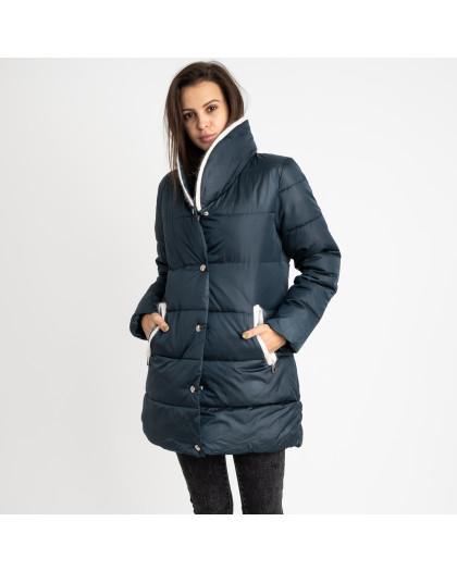 8919-4 зеленая куртка женская на синтепоне (4 ед. размеры: M.L.XL.2XL) Куртка