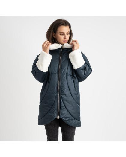 8930-4 зеленая куртка женская на синтепоне (4 ед. размеры: M.L.XL.2XL) Куртка