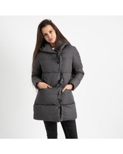 1915-2 серая куртка женская на синтепоне (4 ед. размеры: M.L.XL.2XL) Куртка