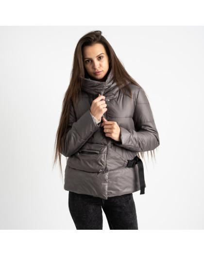 0887-2 серая куртка женская на синтепоне (4 ед. размеры: M.L.XL.2XL) Куртка