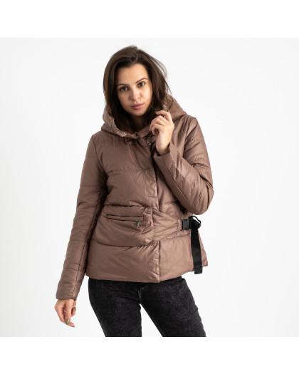 0887-5 коричневая куртка женская на синтепоне (4 ед. размеры: M.L.XL.2XL) Куртка