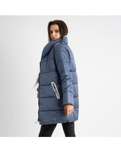 8919-3 голубая куртка женская на синтепоне (4 ед. размеры: M.L.XL.2XL) Куртка