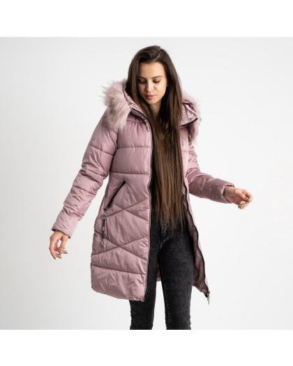 1905-5 розовая куртка женская на синтепоне (4 ед. размеры: M.L.XL.2XL) Куртка