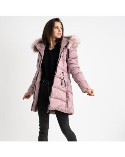 1906-5 розовая куртка женская на синтепоне (4 ед. размеры: M.L.XL.2XL) Куртка
