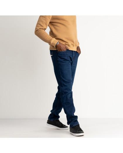 2123 Dsouaviet синие джинсы мужские стрейчевые на флисе (8 ед. размеры: 29.30.31.32.33.34.36.38) Dsouaviet