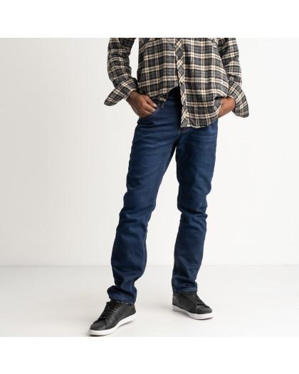 2142 Dsouaviet синие джинсы мужские на флисе стрейчевые  (8 ед. размеры: 29.30.31.32.33.34.36.38) Dsouaviet