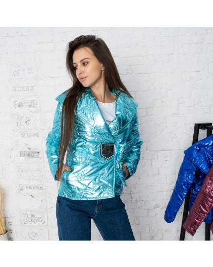 5060-2 бирюзовая куртка женская (4 ед.размеры:L-XL) Куртка