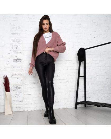 0770 Forest jeans черные брюки из экокожи женские на байке (6 ед.размеры: 25.26.27.28.29.30) Forest Jeans
