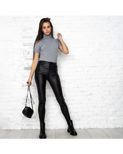 0783 Forest jeans черные брюки из экокожи женские на байке (6 ед.размеры: 25.26.27.28.29.30) Forest Jeans