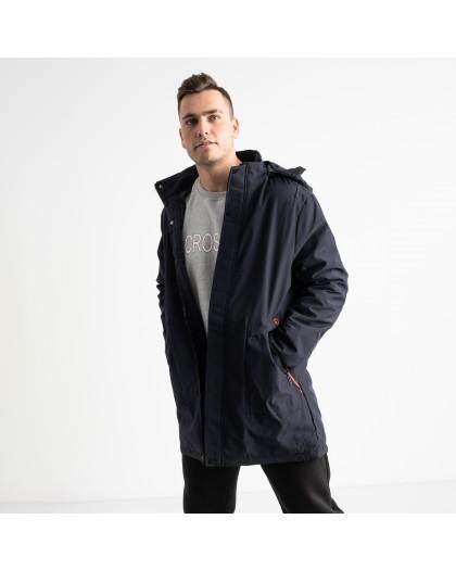 8806 синяя куртка мужская на синтепоне (5 ед. размеры: L.XL.2XL.3XL.4XL) Куртка