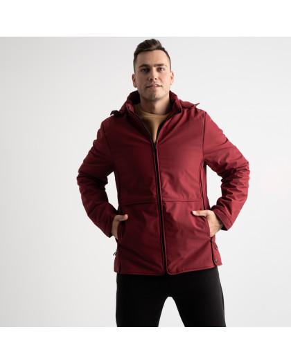8801 бордовая куртка мужская на синтепоне (5 ед. размеры: L.XL.2XL.3XL.4XL) Куртка