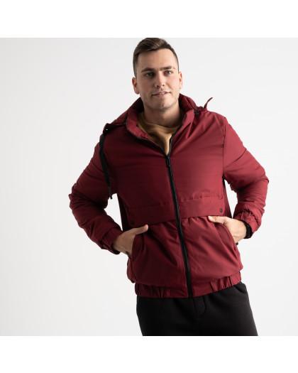 8802 бордовая куртка мужская на синтепоне (5 ед. размеры: L.XL.2XL.3XL.4XL) Куртка