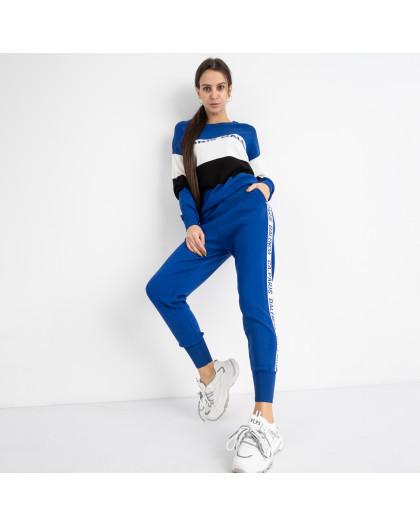 1607-4 M.K.Store синий спортивный костюм женский (3 ед.размеры: универсал 44-48) M.K.Store
