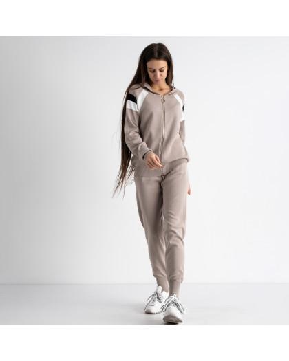 1602-4 M.K.Store бежевый спортивный костюм женский (3 ед.размеры: универсал 44-48) M.K.Store