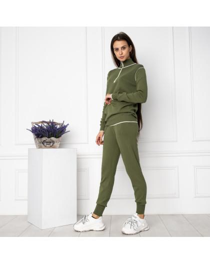1610-3 M.K.Store зеленый спортивный костюм женский (3 ед.размеры: универсал 44-48) M.K.Store