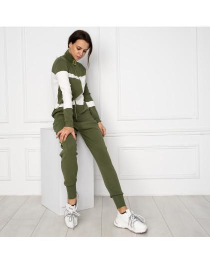 1601-4 M.K.Store зеленый спортивный костюм женский (3 ед.размеры: универсал 44-48) M.K.Store