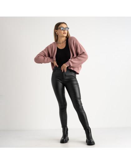 0101-1 XYH черные брюки из экокожи на байке (6 ед.размеры: 25.26.27.28.29.30) XYH
