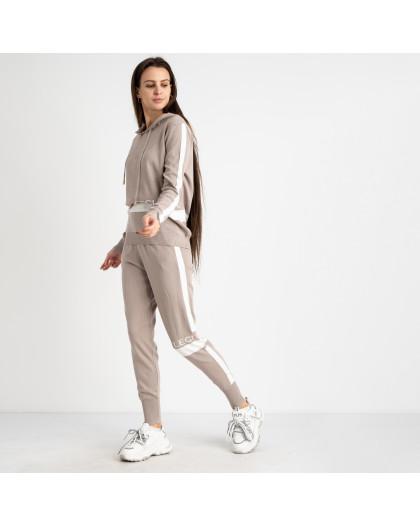 1606-2 M.K.Store бежевый спортивный костюм женский (3 ед.размеры: универсал 44-48) M.K.Store