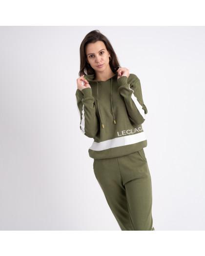 1606-5 M.K.Store зеленый спортивный костюм женский (3 ед.размеры: универсал 44-48) M.K.Store