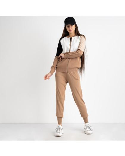 1605-2 M.K.Store бежевый спортивный костюм женский (3 ед.размеры: универсал 44-48) M.K.Store