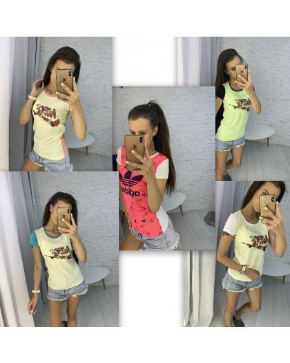 3706-99 футболка женская микс моделей и цветов  (10 ед. размеры: универсал 42-44) Футболка