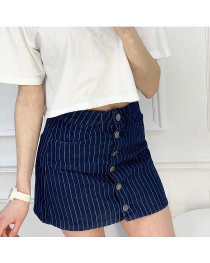 0200-6 Defile юбка на пуговицах синяя котоновая (6 ед. размеры: 34.36.36.38.38.40) Defile
