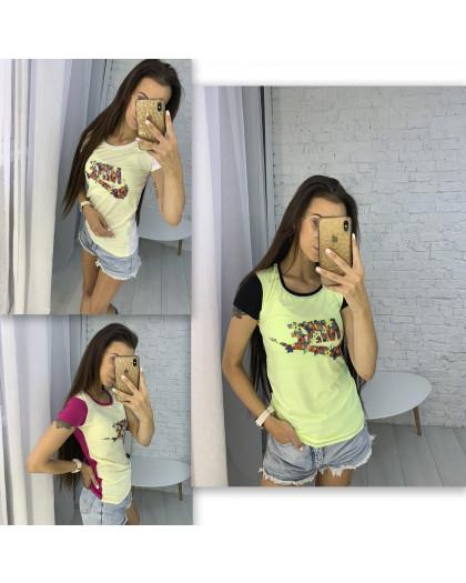 3706-01 футболка женская микс цветов без выбора цветов (3 ед. размеры: универсал 42-44) Футболка
