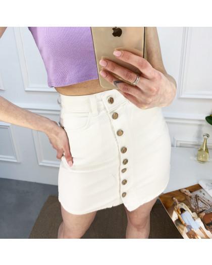 0001-751 Arox юбка на пуговицах белая котоновая (4 ед. размеры: 34.36.38.40) Arox