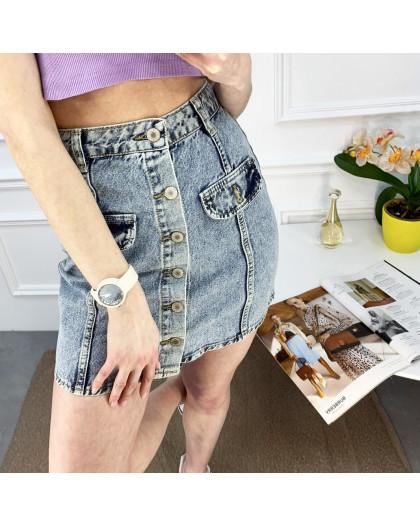 2824-1 XRay юбка джинсовая на пуговицах голубая котоновая (6 ед. размеры: 34/2.36/2.38.40) XRAY