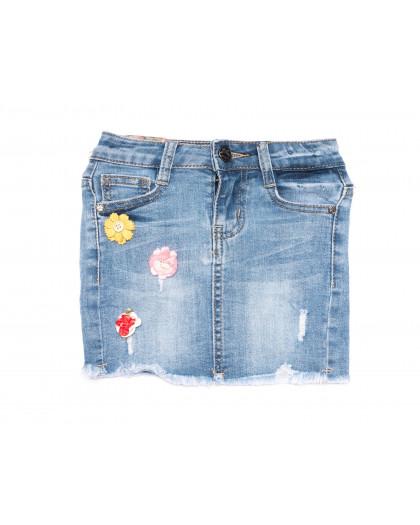 0092 Miss Happy юбка на девочку синяя весенняя стрейчевая (20-28, 6 ед.) Miss Happy