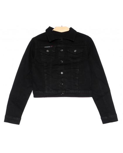 0825 New Jeans куртка джинсовая женская черная весенняя стрейчевая (XS-XXL, 6 ед.) New Jeans