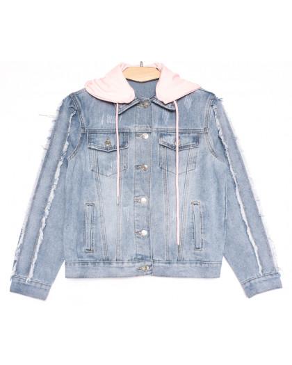 0814 New Jeans куртка джинсовая женская синяя весенняя коттоновая (XS-XXL, 6 ед.) New Jeans