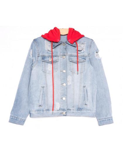 0812 New Jeans куртка джинсовая женская синяя весенняя коттоновая (XS-XXL, 6 ед.) New Jeans