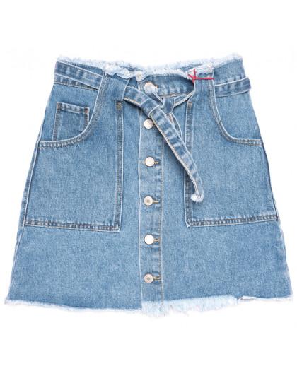 3417 Xray юбка джинсовая на пуговицах синяя коттоновая (34-40,евро,6 ед.) XRAY
