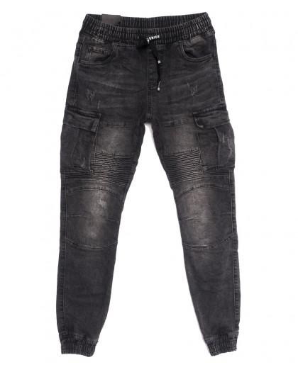 20019-50 Viman джинсы мужские на резинке серые осенние стрейчевые (30-38, 5 ед.) Viman