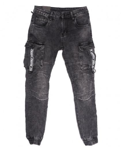 20033-50 Viman джинсы мужские на резинке серые осенние стрейчевые (30-38, 5 ед.) Viman