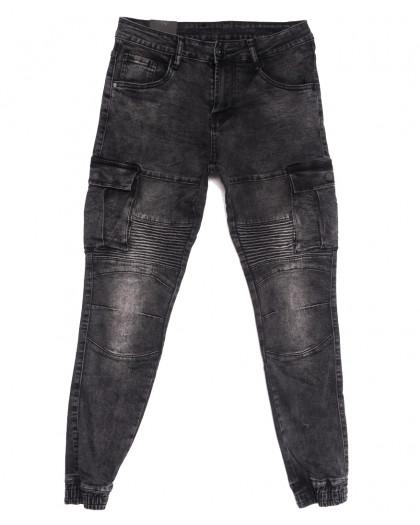 20032-50 Viman джинсы мужские на резинке серые осенние стрейчевые (31-42, 5 ед.) Viman