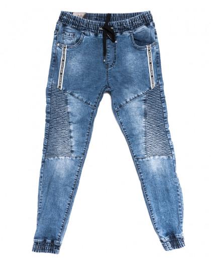 20028-50 Viman джинсы мужские на резинке синие осенние стрейчевые (30-40, 5 ед.) Viman