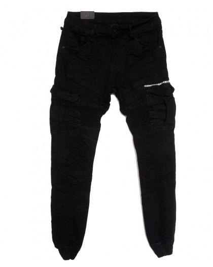 20029-50 Viman джинсы мужские на резинке черные осенние стрейчевые (31-38, 5 ед.) Viman