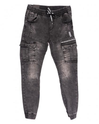 20021-50 Viman джинсы мужские на резинке серые осенние стрейчевые (30-37, 5 ед.) Viman