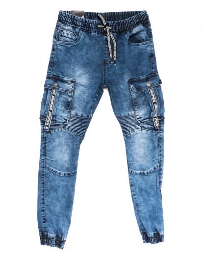 20027-50 Viman джинсы мужские на резинке синие осенние стрейчевые (31-38, 5 ед.) Viman