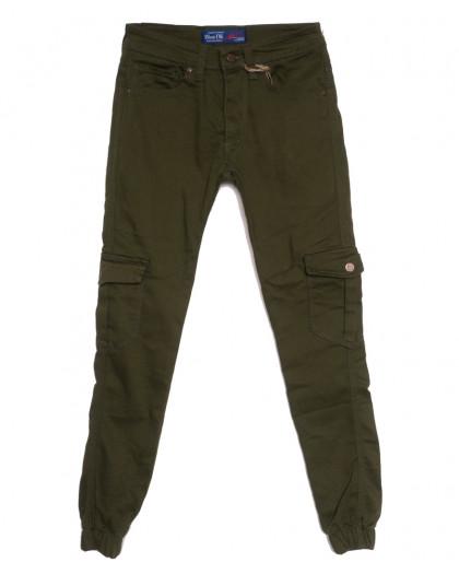 6992 Blue Nil джинсы мужские на резинке с карманами хаки осенние стрейчевые (29-36, 8 ед.) Blue Nil