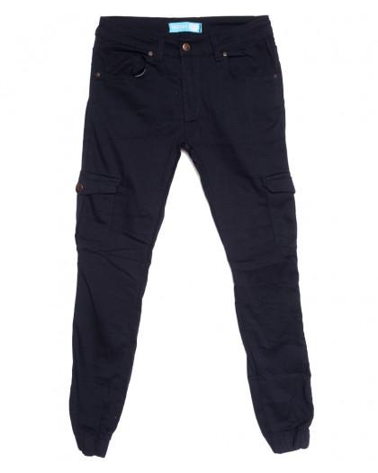5946 Destry джинсы мужские на резинке с карманами темно-синие осенние стрейчевые (29-36, 8 ед.) Destry