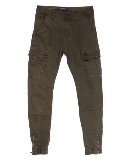 0555-53 хаки M.Sara брюки карго мужские осенние стрейчевые (29-38, 5 ед.) M.Sara