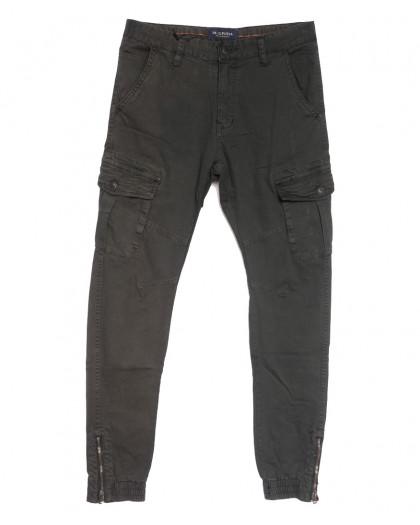 0555-72 M.Sara брюки карго мужские серые осенние стрейчевые (29-34, 5 ед.) M.Sara