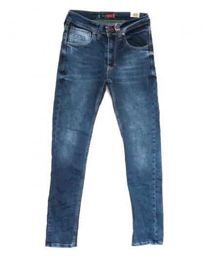 6983 Redcode джинсы мужские молодежные с царапками синие осенние стрейчевые (27-32, 8 ед.) Redcode