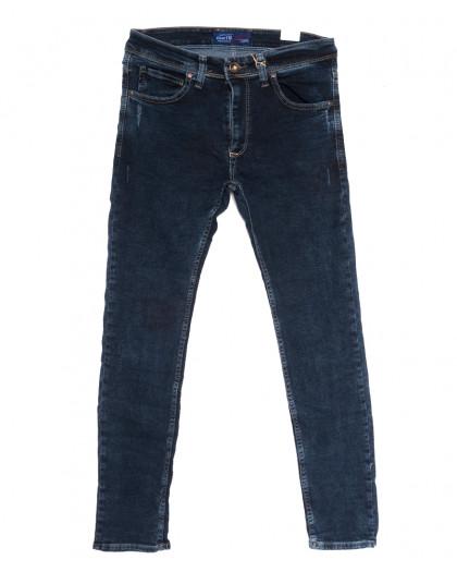 7016 Blue Nil джинсы мужские полубатальные с царапками синие осенние стрейчевые (32-40, 8 ед.) Blue Nil