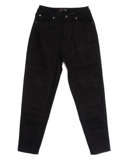 0853-3 М Relucky джинсы-баллон черные осенние стрейчевые (25-30, 6 ед.) Relucky